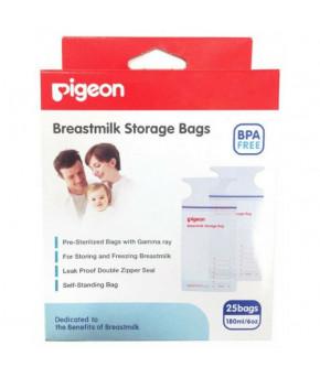 """Пакеты """"Pigeon"""" для замораживания и хранение грудного молока, 180мл (25шт)"""