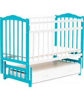 Кровать детская Bambini Classic 10, бело/голубой