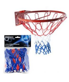 """Баскетбольная сетка """"TORRES"""" ,для игры в залах и на открытых площадках, нить:4 мм., длинна :55 см.,"""