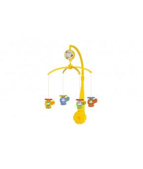 Каруселька BabyMix с пластиковыми игрушками, Веселый вертолет