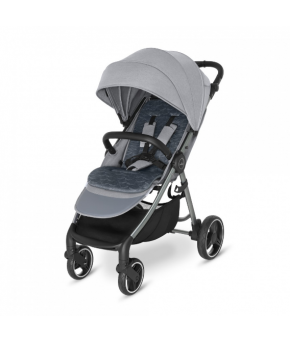 Прогулочная коляска Baby Design Wawe 2021 107 silver gray