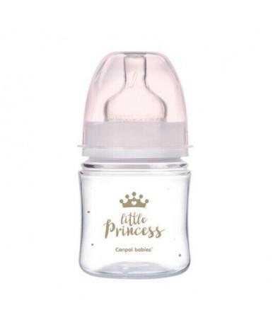 Бутылочка Canpol Little Princess пластиковая розовая 120мл