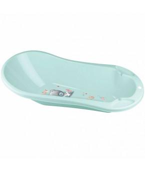 """Ванна """"Пластишка"""" с клапаном для слива воды и аппликацией """"Me to you"""", зеленая"""