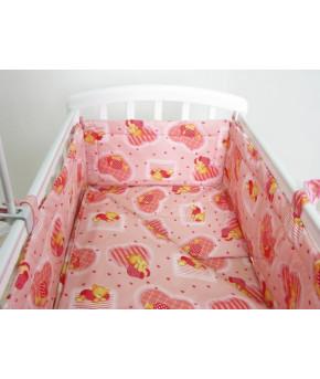 Простынь Фея Мишки розовый на резинке