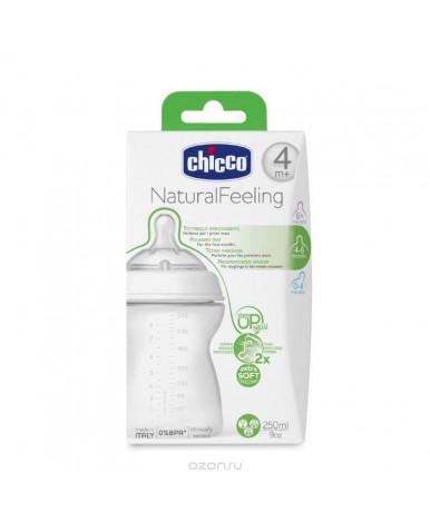 """Бутылочка """"Chicco"""" Natural Feeling с силиконовой соской с флексорами, 250мл"""