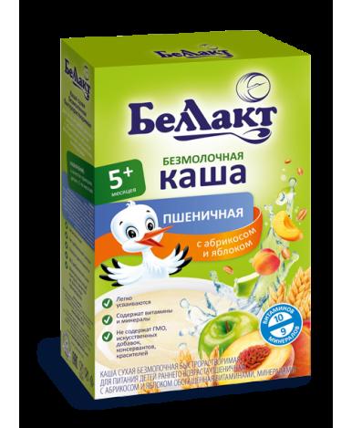 Каша Беллакт пшеничная с абрикосом и яблоком безмолочная 200г