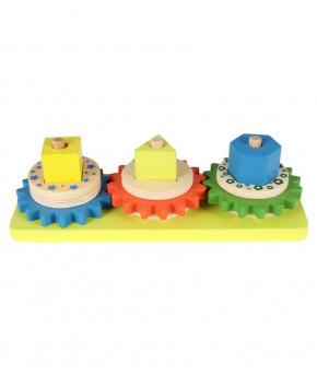 Развивающая пирамидка Wooden Toys логическая Основная механика